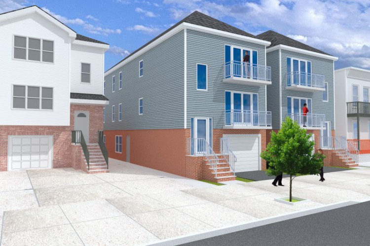 Architectural Design for 2 Family home in Jersey City Yale Ave